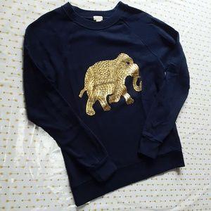 EUC J Crew Elephant Sweatshirt